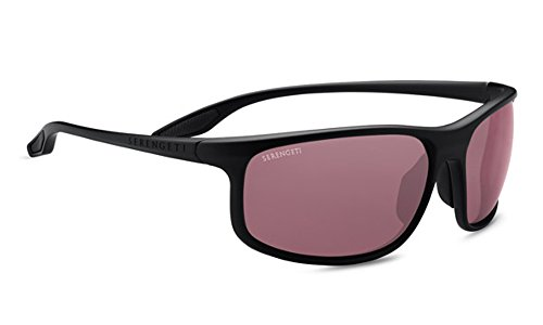 Serengeti Ponza Sunglasses Satin Black, Lens by Serengeti