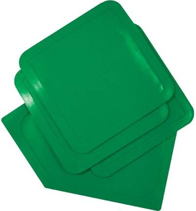 Throw-Down Baseball Bases...Set Of 3 Bases & 1 Home Plate...Green (2 Sets of Bases) by Olympia Sports