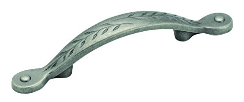 Amerock BP1580-WN Inspirations Leaf 3-Inch Pull, Weathered Nickel