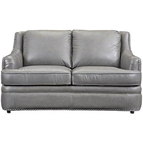 Oliver Pierce OP0059 Calvin Leather Loveseat Grey