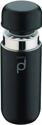 Grunwerg Matt Black Drink Pod Flask Thermoses 200ml/7 ounces HCF-200BK (Best Thermos Flask Uk)