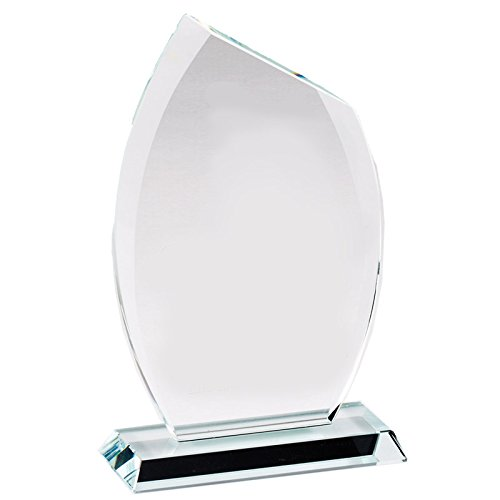 Customizable 8 Inch Glass Flame Award with Beveled Edges, Includes Personalization