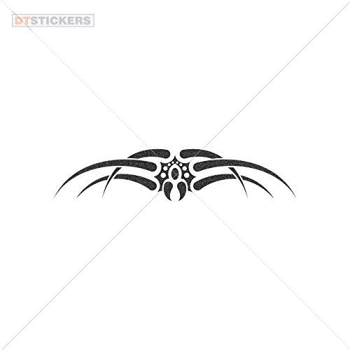 Vinyl Stickers Decal Spider Style Design For Helmet waterproof creep clip art night (10 X 2,13 Inches) Metallic Black