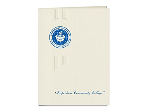 Signature Announcements University of Hawaii - Kapiolani Community College Graduation Announcements, Elegant style, Elite Pack 20 with metallic foil seal by Signature Announcements
