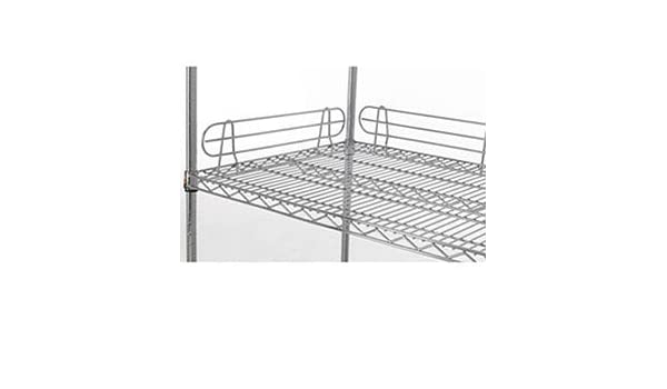 5H Side And Back Shelf Ledge For Wire Shelving With Chrome Finish 72