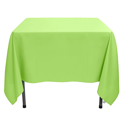 Remedios Square Tablecloth Solid Color Wrinkle-Free Polyester Table Cloth for Indoor and Outdoor Wedding Party Restaurant Banquet Home Dinner (Apple Green, 70x70 inch) ()