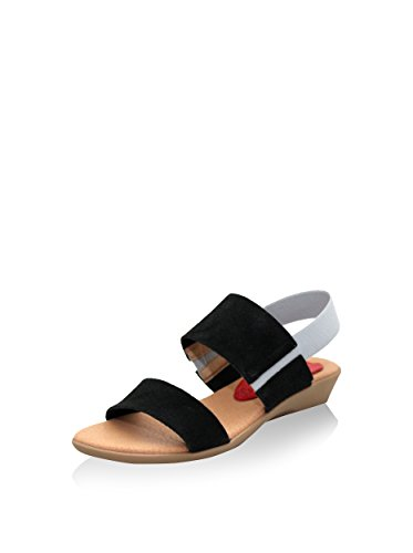 Esther Garcia Pmg-5137-neg - Sandalias de cuña Mujer Negro