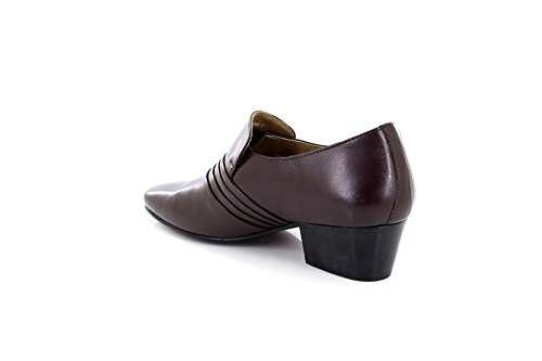 b4451dde2c2 ShuCentre Mens Lucini Brown Leather Smart Formal Slip On Cuban Heel Shoes  26544 - Brown Leather