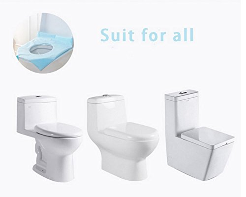 bd2e1e8aa6fe Caiyuangg 50pcs Healthy Safe Disposable Toilet Seat Covers Paper Pocket  Size For Camping Travel Sanitary Waterproof Toilet Paper Pad Mat
