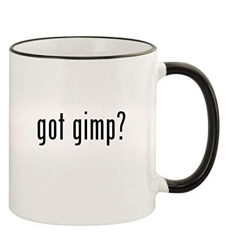 got gimp? - 11oz Colored Rim and Handle Coffee Mug, Black