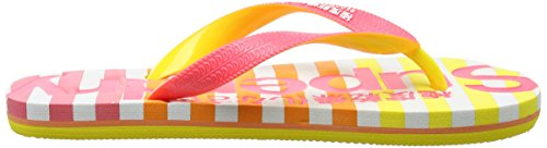 Superdry Eva - Sandalias de dedo Mujer Multicolore (Hazard Pink/ Bright Lemon/Optic)