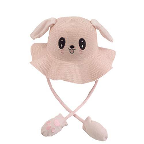 Unisex Cap Newstrength, Kids Summer Outdoor Beach Rabbit Ears Sun Hat Breathable Sunshade Fisherman Cap - Lotus Pink ()
