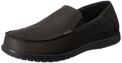 crocs+Men%27s+Santa+Cruz+2+Luxe+Leather+M+Slip-On+Loafer%2C+Black%2FBlack%2C+8+M+US