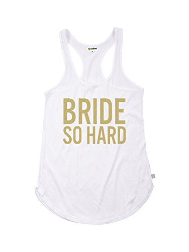 Tipsy Elves Womens Bride So Hard Tank Top  X Large