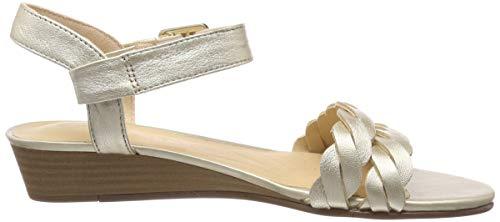 Mena champagne Blossom Clarks Zapatos Para De Tacón Plateado Mujer 18fqxdFvw