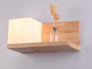 In stile giapponese testiera del letto in legno luci da parete ...