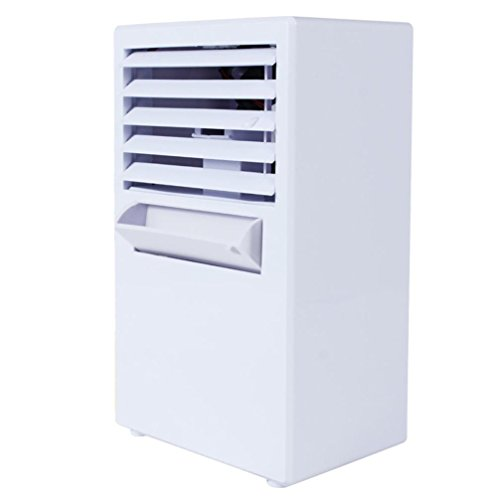 Sikye Personal Air Conditioner Fan,18W Portable Mini Evaporative Air Circulator Cooler Humidifier for Kids Room Bedroom Office (white)