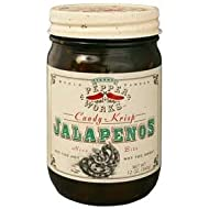Texas Pepper Works Krisp Jalapenos Candy, 12-Ounce Glass (Pack of 3)