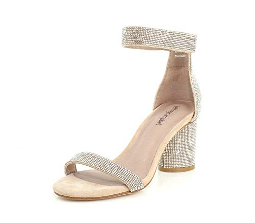 Jeffrey Campbell Womens Laura-JS Nude Suede Champagne Sandal - 8