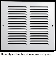 8 X 8 Air Return Grille Stamped Steel - Non Filter