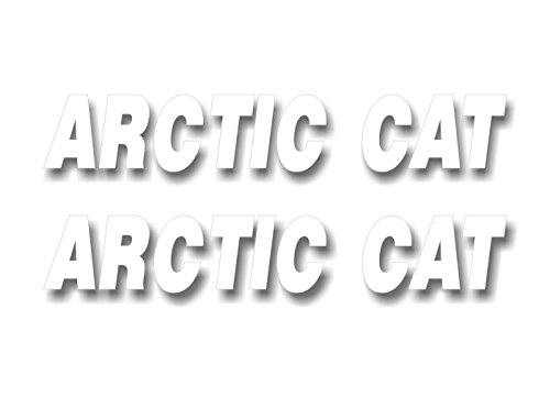 2 Arctic CAT Vinyl Sticker Decals Graphics for Truck Snowmobile Sled Trailer Decal Stickers ((2) 1.5