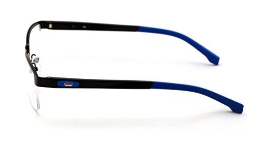 b5cb77fcf7 V.W.E. Men Half Rimless Rectangular Non-prescription Glasses Frame Clear  Lens Eyeglasses TR90