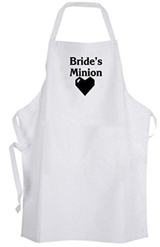 Bride's Minion - Adult Size Apron - Wedding Bride Bachelorette Party Bridesmaid -