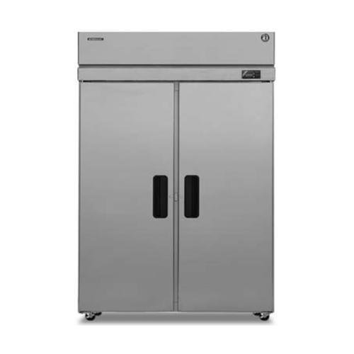 Hoshizaki PTR2SSE-FSFS 55'' Professional Series Pass Thru Refrigerators with 51.30 cu. ft. Capacity 6 Adjustable Shelves EverCheck System Stainless Steel Exterior and Interior and En
