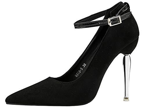 Aisun Fille Noire Stiletto Fine Noir Escarpin Femme Sexy Bouche À Fête rncwFr0q7W