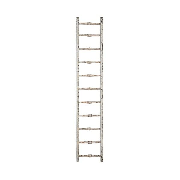 Creative Co-Op Decorative Wood Ladder, Distressed White