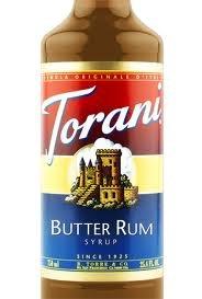(Torani Butter Rum Syrup (1 Single 750 ml bottle))