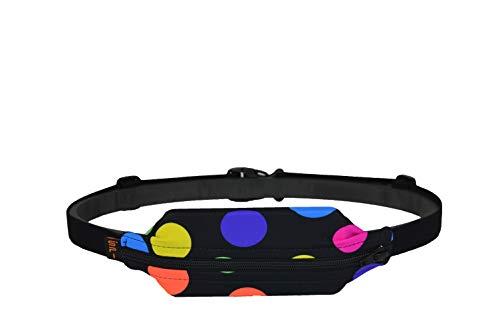 SPIbelt: Adult Large Pocket- No-Bounce Running Belt for Athletes & Adventurers (Polka Dot, 25