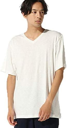 :スラブフライスVネックTシャツ SS