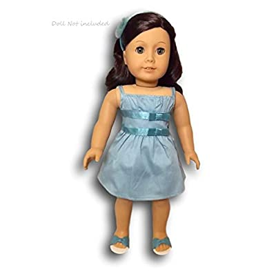 American Girl MY AG 2014 - Double-Bow Dress and Charm for Dolls: Toys & Games