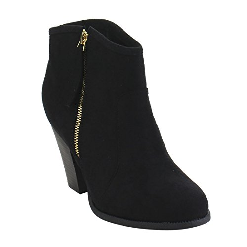 Riding Booties Black 1 Liliana Heel Romane Women's Ankle Chunky xw0xAnXSq