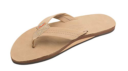 Rainbow Sandals Men's Premier Leather Single Layer Wide Strap with Arch, Sierra Brown, Men's X-Large / 11-12 D(M) US (Rainbow Sandals Thin Strap)