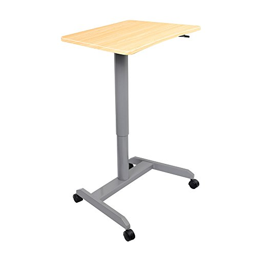 Standing Desk, Multipurpose and Height Adjustable Computer Desk for Home, Office (Light Wood) by Amoiu (Image #8)