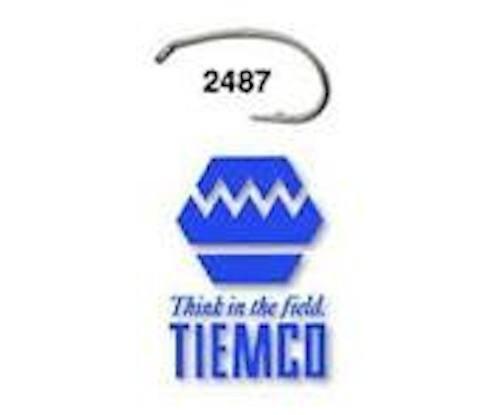 Umpqua Tiemco TMC 2487 Fly Tying Hooks - 100 Pack, -