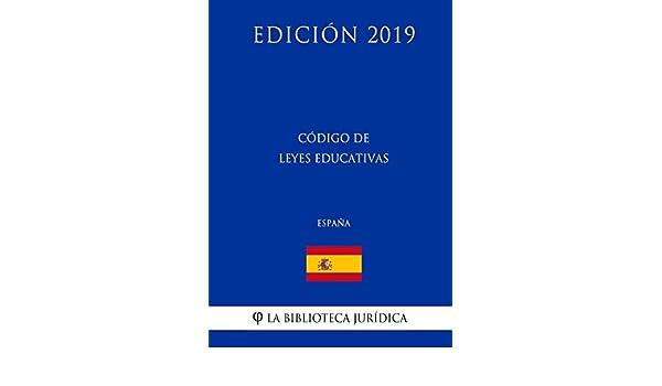 Código de leyes educativas (España) (Edición 2019): Amazon.es: La ...