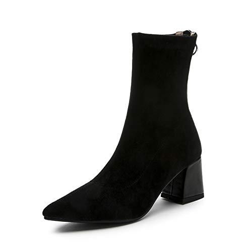 Lsm Bottes Femmes à Bottines Black pour Bout Pointu rfZqrwxAB