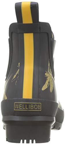 black Noir Femme Dragonfly amp; Bottines Blkdfly Wellibob Joules Pluie De Bottes BqCn8Zwa