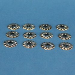 Amazon Com Rosettes Antique Silver 3 4 In Set Of 12