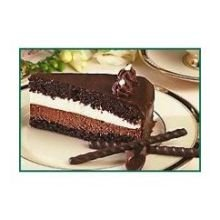 Lawlers Desserts Elite White and Dark Chocolate Mousse Cake, 56 Ounce -- 4 per case.