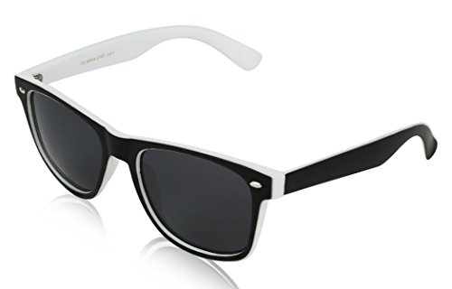 Black Sunglasses for Women 2 Tone Black and White - Black White And Sunglasses