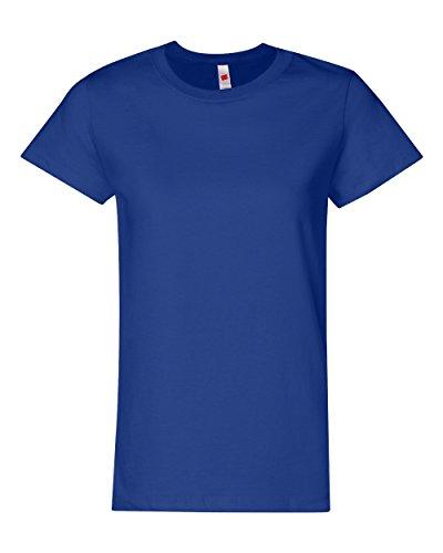 Hanes - Camiseta - Mujer Azul