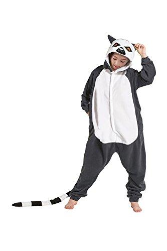 YUWELL Childrens Lemur Pajamas Animal Onesies Cosplay Homewear