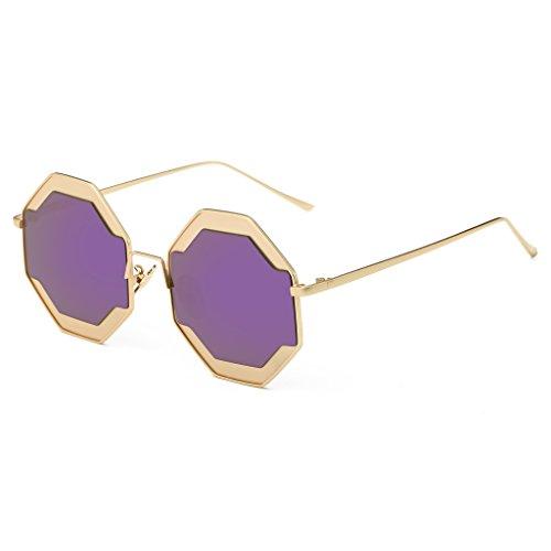 Simvey Fashion Unique Mirrored Round Sunglasses Vinatge Retro for Women Men - Glasses Vinatge