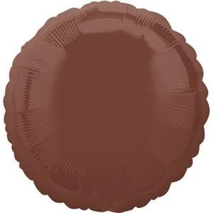 Anagram 23003 Round - Chocolate Brown Foil Balloon, 18