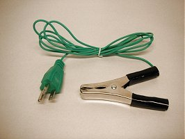 GROUNDING CORD | 6-foot long, 3-prong with Large Clamp 1 inch opening ()