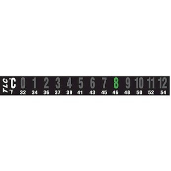 Digi-Sense Reversible 13-Point Horizontal Temperature Label, 36-48C / 97-118F; 10/Pk